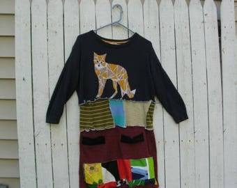 OOAK One of a kind Recycled Sweater Sweater Tunic Upcycled Sweater Dress Medium