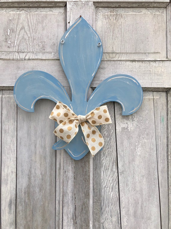 Farm House, Fleur de Lis door hanger, Louisville door hanger, Home welcome sign, Fleur de lis sign, Fleur de Lis realtor gift, new home gift