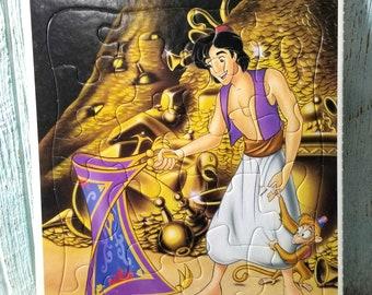 Disney Aladdin Frame Tray Puzzle, 20 Piece Children's Puzzle, Aladdin and Monkey Abu