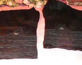 Antique Silk Victorian Dress Cuffs