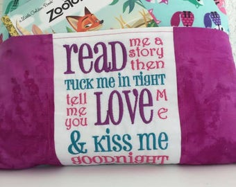 Fox Reading Pocket Pillow