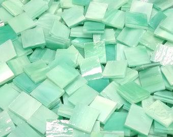 Aqua Lime Stained Glass Mosaic Tiles
