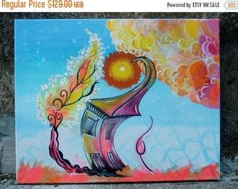 Summer Sale Original Art Landscape Abstract Painting  Canvas  --Acrylic  Art Painting Abstract  Original Modern Surreal  Landscape & Scenic
