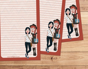 Best Friends - A5 Stationery - 12, 24 or 48 sheets