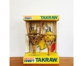 Vintage Rattan Catch Game / Takraw