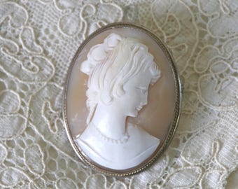 Antique signed Cameo in sterling silver