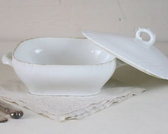French Ironstone serving dish French casserole dish