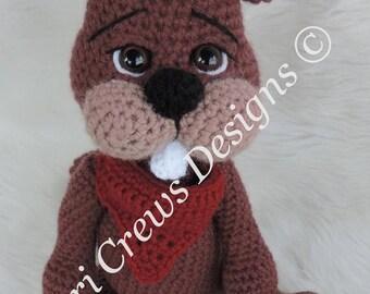 Summer Sale Crochet Pattern Beaver Instant Download PDF Format Simply Cute Beaver Crochet Pattern by Teri Crews
