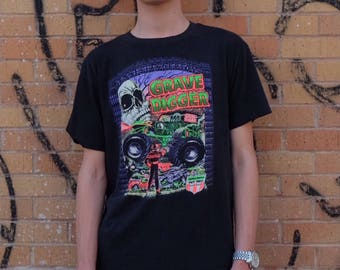 90s Dennis Anderson's GRAVE DIGGER Monster Truck Tee