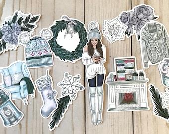 Welcome Winter - Planner Die Cuts / Planner Accessories / Planner Decoration