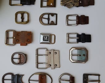 Salvaged belt buckles lot of 16 pieces
