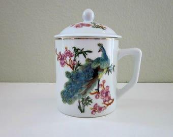 Peacock Mug Etsy