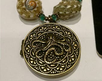 Beautiful Handmade One of a Kind Steampunk Octopus Locket Necklace Bracelet Earring Set