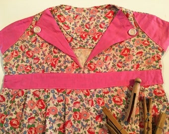Feedsack Fabric Vintage Clothespin Bag Pin Dress