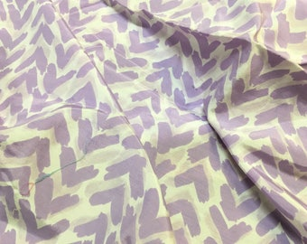 Vintage Fabric Lavender Purple Vintage Cotton Rayon