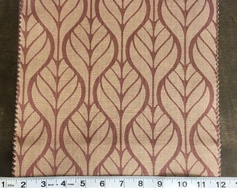 Custom Curtains Valance Roman Shade Shower Curtains in Rust Leaf Pattern Fabric