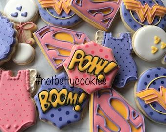 2 Dozen Baby Superhero Sugar Cookies