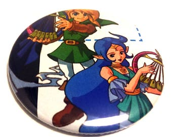 Handmade POCKET MIRROR made using recycled magazines -Oracle of Ages- 2.25 inches - OOAK - One of a Kind