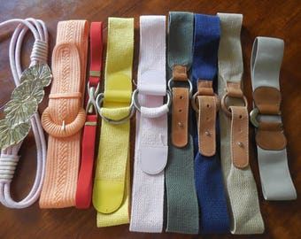 Vintage Belts  9 Assorted Belts