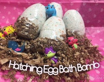 Hatchimal inspired Toy Bath Fizzie, Hatchimals Toy inside a handmade Bath Bomb, Hatchimal themed Birthday Gift, Hatchimal theme Party Favors