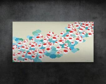 Large canvas print – Bo The Goldfish – Bo Journey of Happiness 2x4ft