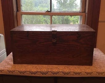 Antique Dovetail Box Rustic storage Cottage  Chic Handmade One of a Kind