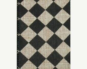SUPPLY SALE 1.5 Inch Natural Black Harlequin Ribbon TR56709-20, Deco Mesh Supplies