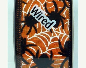 ON SALE 2.5 Inch Spider Ribbon 224056-750, 5 or 10 Yards