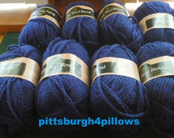 New Listing -  8025 - Navy - Coats and Clark - Royal Mouline - Bulky Wool Blend - Acrylic & Wool Blend - 75% Acrylic 25 Wool - Price For All