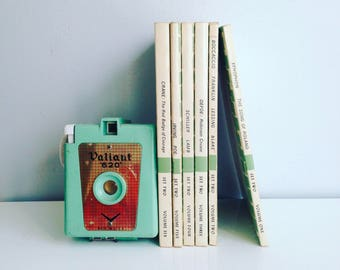 Vintage Set of Junior Great Books Instant Library Collection Decorative Books Photography Props Mint Green