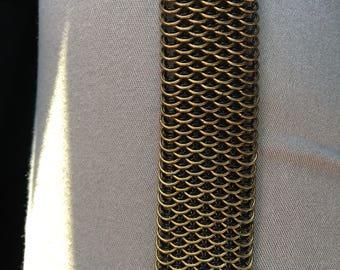 Brass Dragonscale Bracelet