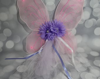 Little Girls Fairy Wings, Girl's Butterfly Wings, Children's Pixie Wings, Pink Wings, Play Wings ,Lavender  Flower  FW1707