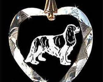 Cavalier King Charles Dog Jewelry Custom Crystal Necklace Pendant, Suncatcher with any Animal or Name YOU Want, Gift, Dog Lover, Handler