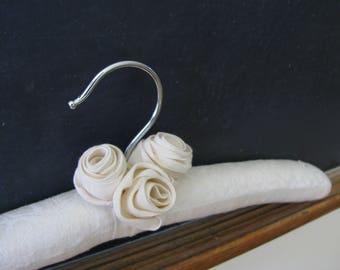 Bridal Hanger, Wedding Hanger, Padded Hanger, Damask Bride Hanger, Padded Bride Hanger, Padded Wedding Hanger, Bride Hanger, Display Hanger