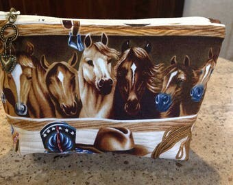 Essential Oil Storage Travel Bag Carrying Case Cowboy Western Horses