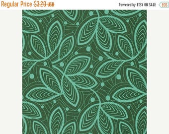 Winter Sale Leaf Lines in Jade from the Violette Collection by Amy Butler  - Half Yard