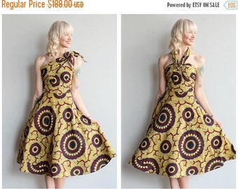 20% Off Sale // Late 1940s Dress // Batik Versatile Wrap Dress // vintage 40s dress