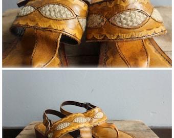 1970s Sandals // Rapallo Brazilian Sandals // vintage 70s sandals // 6M