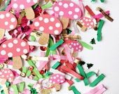 Spring Garden Party Decor, Woodland Fairy Birthday Party, Confetti, Enchanted Forest Decorations, Mushroom, Table Decor, Toadstools