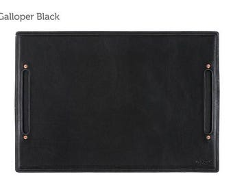 SECONDS - Large Leather Desk Pad & Desk Protector l Leather Desk Mat - Black