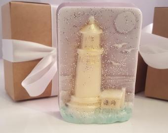 Lighthouse soap bar - gift for mom - stocking stuffer for women - gift for women - gift for her - gift teen girls - stocking stuffer for men