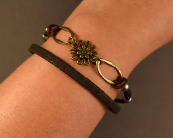 Leather Bracelet-Wrap Bracelet-Brown Bracelet-Bracelet For Women-Friendship Bracelet-Charm Bracelet-Gift For Her-Gifts-Gift For Women-Gifts