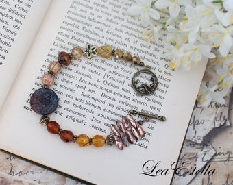 Mermaid bracelet Asymmetrical bracelet Seashell bracelet Ocean bracelet Mermaid Jewelry Ocean jewelry Autumn bracelet - Mermaid Cove