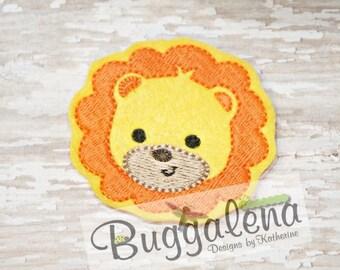 Lion Feltie Embroidery Design