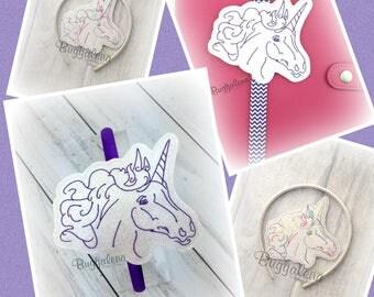 Sketch Unicorn BuggaBand Slider Embroidery Design
