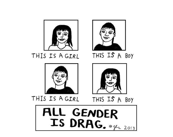 Art Print Punk Shirts Punk Shirt LGBT Transgender Bisexual Lesbian Gay Genderqueer Queer Queens Kings All Gender is Drag Shirt