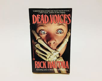 Vintage Horror Book Dead Voices by Rick Hautala 1990 First Edition Paperback