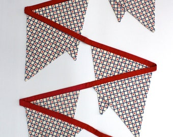 Fabric Bunting/Banner/Flags Vintage Red Star