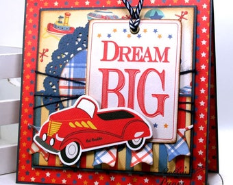 Dream Big Birthday Greeting CArd Polly's Paper Studio Handmade