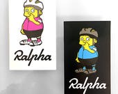 RALPHA parody cycling 2-piece sticker set colorway 2